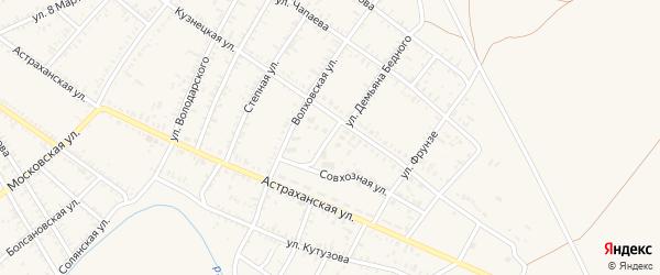 Улица Демьяна Бедного на карте села Капустина Яра с номерами домов