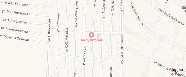 Больничная улица на карте села Чечен-Аул с номерами домов