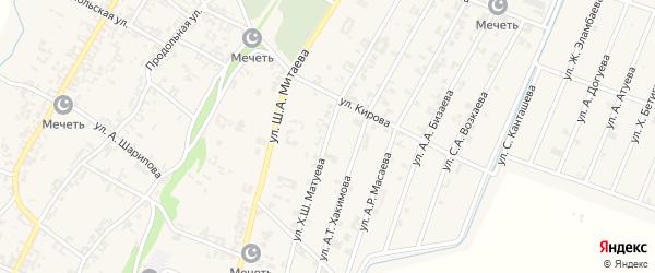 Улица Х.Ш.Матуева на карте села Новые-Атаги с номерами домов