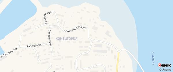 Конецгорская улица на карте Лешуконского села с номерами домов