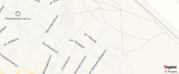 Улица Чехова на карте села Капустина Яра с номерами домов
