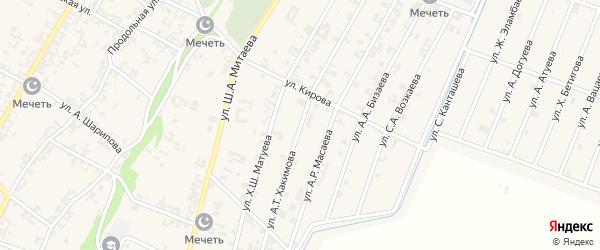 Улица З.З.Хакимова на карте села Новые-Атаги с номерами домов