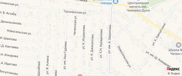 Новосельская улица на карте поселка Газгородка с номерами домов