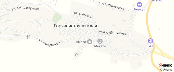 Улица Арсаханова на карте Горячеисточненская станицы с номерами домов