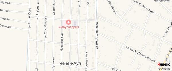 Улица Х.Нурадилова на карте села Керла-Юрт с номерами домов