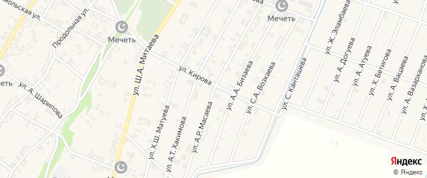 Улица А.Р.Масаева на карте села Новые-Атаги с номерами домов