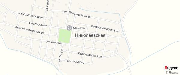 Улица Горького на карте Николаевской станицы с номерами домов
