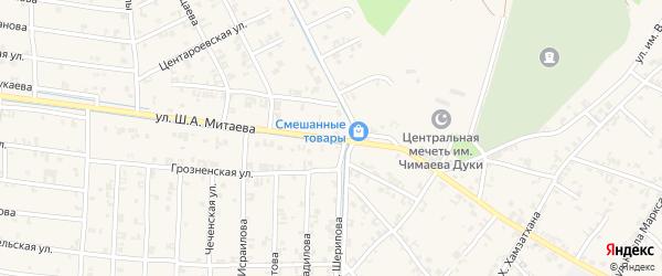 Улица Ш.А.Митаева на карте села Чечен-Аул с номерами домов
