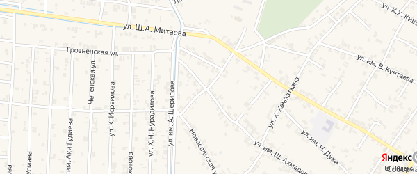 Молодежная улица на карте села Чечен-Аул с номерами домов