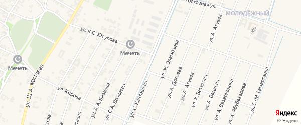 Канальная улица на карте села Новые-Атаги с номерами домов