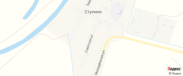 Советская улица на карте села Ступино с номерами домов