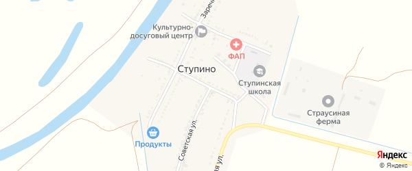 Улица Берегового на карте села Ступино с номерами домов