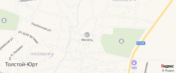 Поселочная улица на карте села Толстого-Юрта с номерами домов