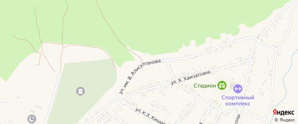 Северная улица на карте села Чечен-Аул с номерами домов