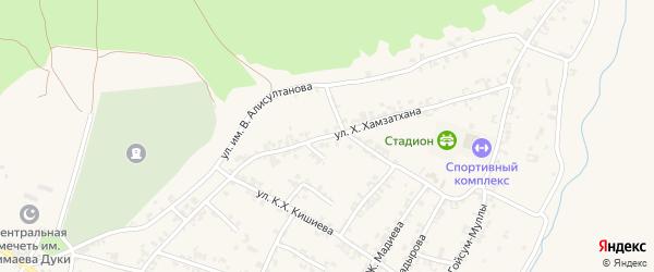 Первомайская улица на карте села Керла-Юрт с номерами домов