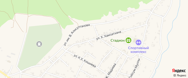 Первомайская улица на карте поселка Гикало с номерами домов