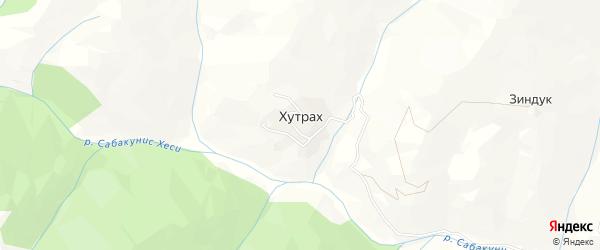 Карта села Хутраха в Дагестане с улицами и номерами домов