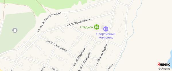 Кольцевая улица на карте села Чечен-Аул с номерами домов