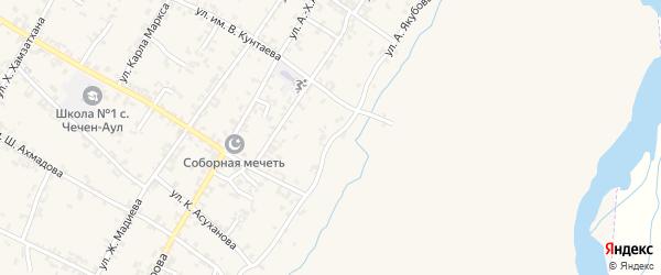 Аргунская улица на карте села Чечен-Аул с номерами домов