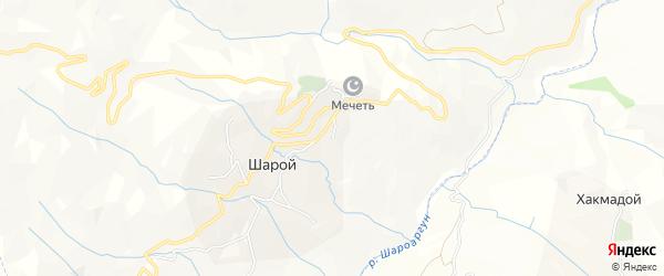 Карта села Шарой в Чечне с улицами и номерами домов