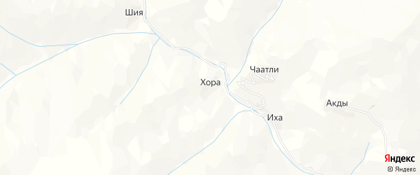 Карта села Хоры в Дагестане с улицами и номерами домов