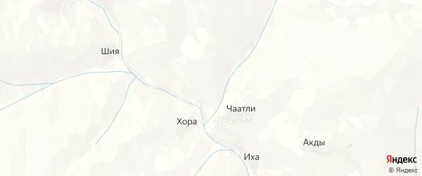 Карта села Асаха в Дагестане с улицами и номерами домов