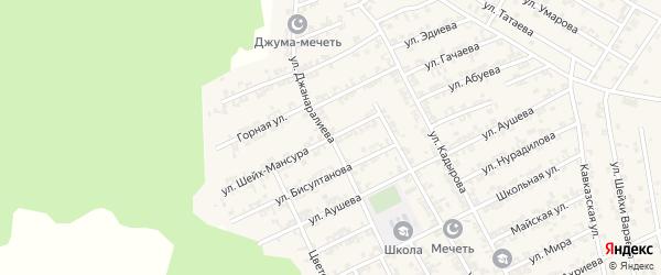 Улица Джанаралиева на карте села Беркат-Юрт с номерами домов