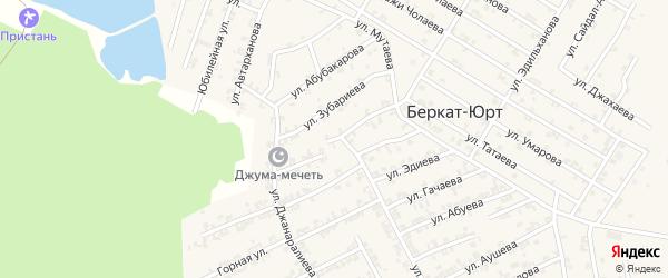 Улица 2-й Кадырова на карте села Беркат-Юрт с номерами домов
