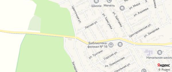 Улица Дружбы Народов на карте села Беркат-Юрт с номерами домов