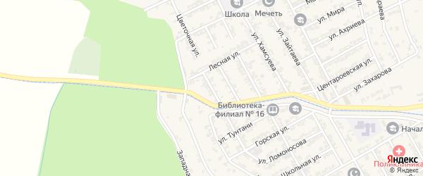 Улица Дружбы на карте села Центора-Юрт с номерами домов