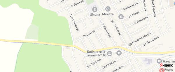 Комсомольская улица на карте села Беркат-Юрт с номерами домов