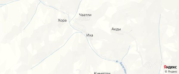 Карта села Иха в Дагестане с улицами и номерами домов