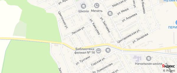 Даргинская улица на карте села Беркат-Юрт с номерами домов