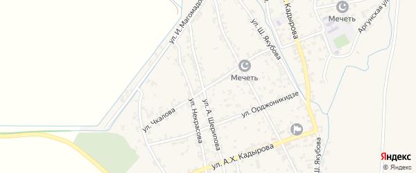 Улица Чкалова на карте Комсомольского села с номерами домов