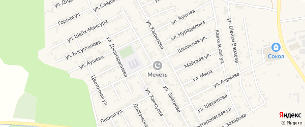 Школьная улица на карте села Беркат-Юрт с номерами домов