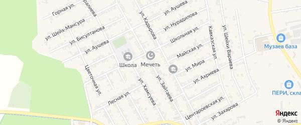 Улица Зайтаева на карте села Беркат-Юрт с номерами домов