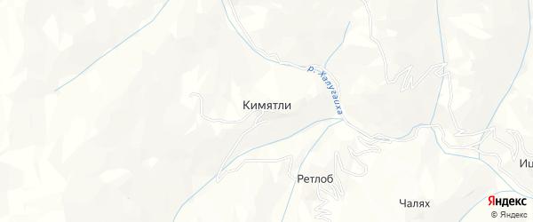 Карта села Кимятли в Дагестане с улицами и номерами домов
