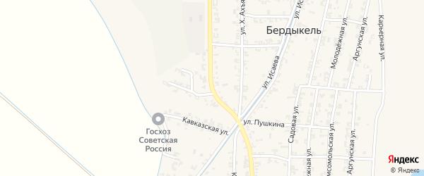 Улица А-Х.Кадырова на карте Комсомольского села с номерами домов
