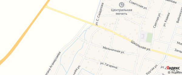 Речная улица на карте села Белгатой с номерами домов