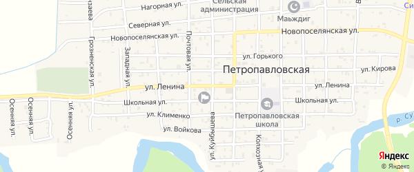 Улица Ленина на карте Петропавловской станицы с номерами домов