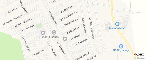Майская улица на карте села Беркат-Юрт с номерами домов