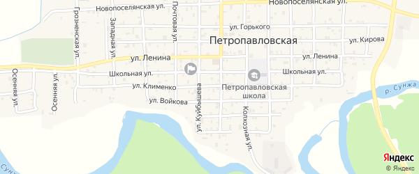 Улица Клименко на карте Петропавловской станицы с номерами домов