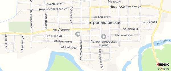 Школьная улица на карте Ильиновская станицы с номерами домов