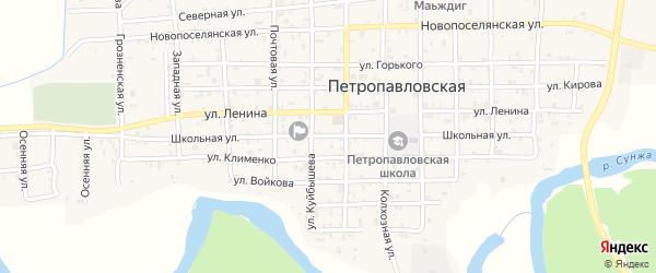 Школьная улица на карте села Ярыш-Марды с номерами домов