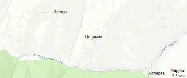 Карта села Цицимаха в Дагестане с улицами и номерами домов