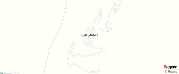 Улица Шахбанов Магомед на карте села Цицимаха с номерами домов