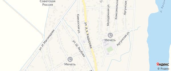 Карьерная улица на карте Комсомольского села с номерами домов