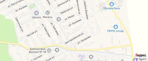 Улица Шерипова на карте села Беркат-Юрт с номерами домов