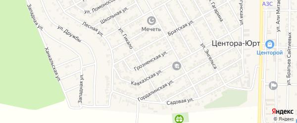Грозненская улица на карте села Центора-Юрт с номерами домов