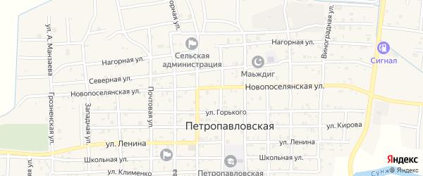 Новопоселянская улица на карте Петропавловской станицы с номерами домов